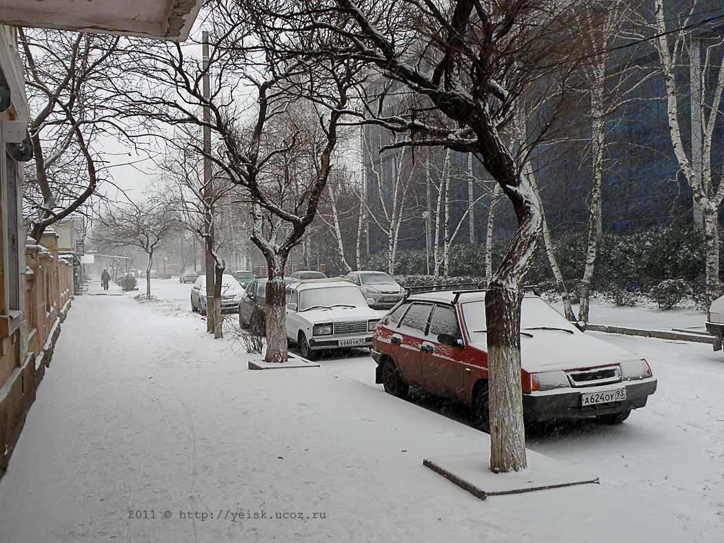 фото зимой ейска